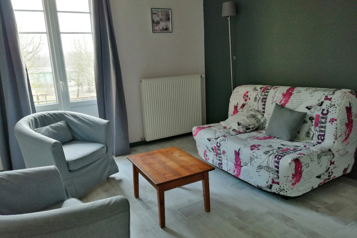 salon avec canapé convertible 140 cm - Location de vacances - Saint-Lattier