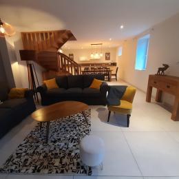 Salon et cuisine ouverte - Location de vacances - Villard-de-Lans