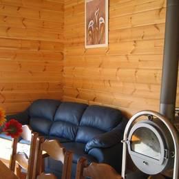 Séjour cuisine chalet avec sauna - Location de vacances - Lent