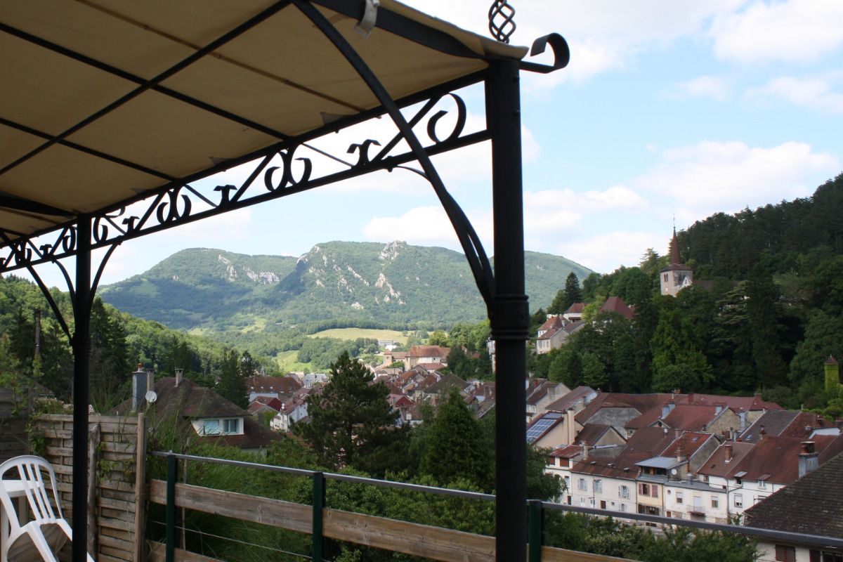 Vue de la terrasse - Location de vacances - Salins-les-Bains