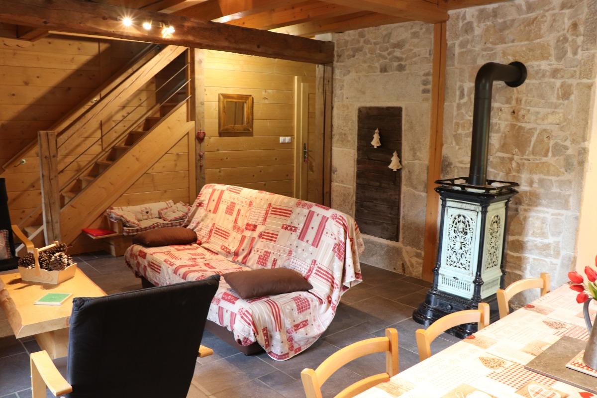 Logement aux Rousses - Salon séjour - Location de vacances - Les Rousses