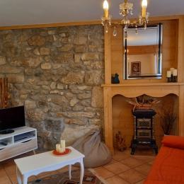 salle de bains , douche , deux vasques  - Location de vacances - Morbier