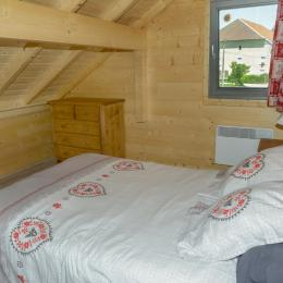 chambre à l'étage (lit 140) - Location de vacances - Esserval-Combe
