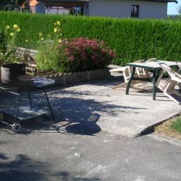 Terrasse privative - Location de vacances - Saint-Germain-en-Montagne