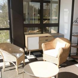 Le salon 1er étage - Location de vacances - Marigny