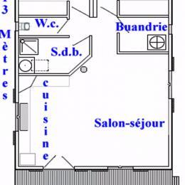 Plan du chalet - Location de vacances - Doucier
