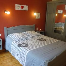 La chambre lit 140 - Chambre d'hôtes - Bois-d'Amont