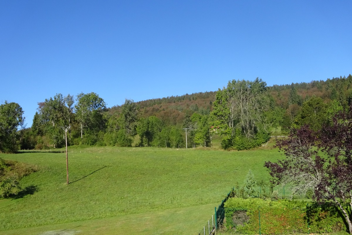 Vue depuis terrasse - Location de vacances - Morbier