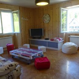 Salon avec canapé convertible 2 personnes - Location de vacances - Morbier