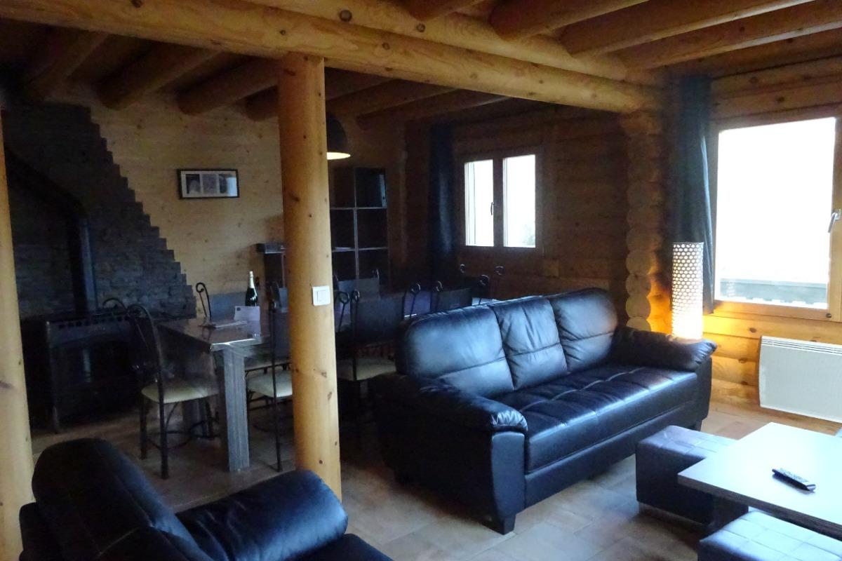 Chalet Haut Jura - salon séjour - Location de vacances - Foncine-le-Bas