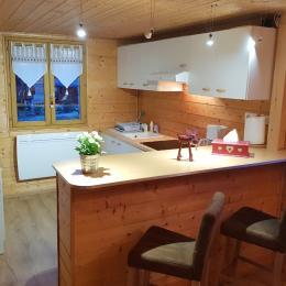 Le lit 140 dans la mezzanine - Location de vacances - Saint-Laurent-en-Grandvaux