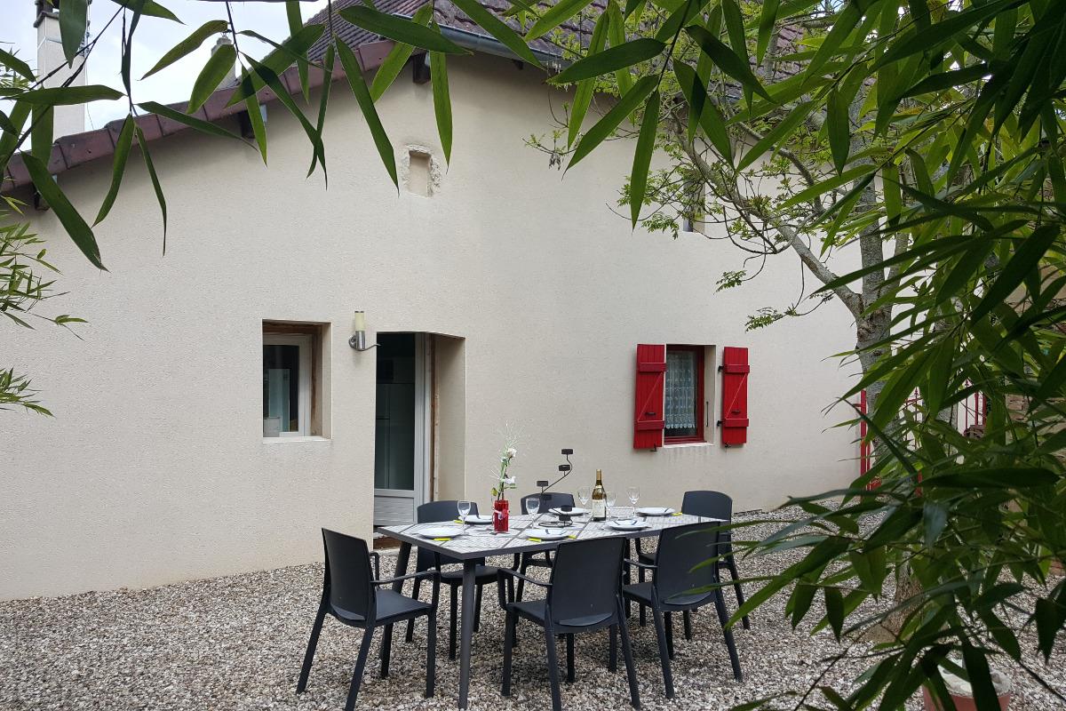 terrasse privative  - Location de vacances - La Vieille-Loye