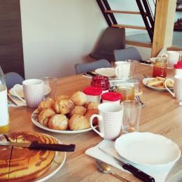Petit déjeuner - Chambre d'hôtes - Grande-Rivière