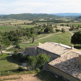 Vue de Mas Provençal et terrain - Location de vacances - La Rochegiron