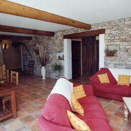 salon/séjour/cuisine - Location de vacances - Pierrerue