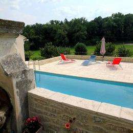 Les Ânes de Forcalquier : piscine et transats - Location de vacances - Forcalquier