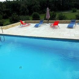 Les Ânes de Forcalquier : piscine, terrasse et transats - Location de vacances - Forcalquier