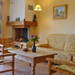 Le salon et sa cheminée - Location de vacances - Valensole