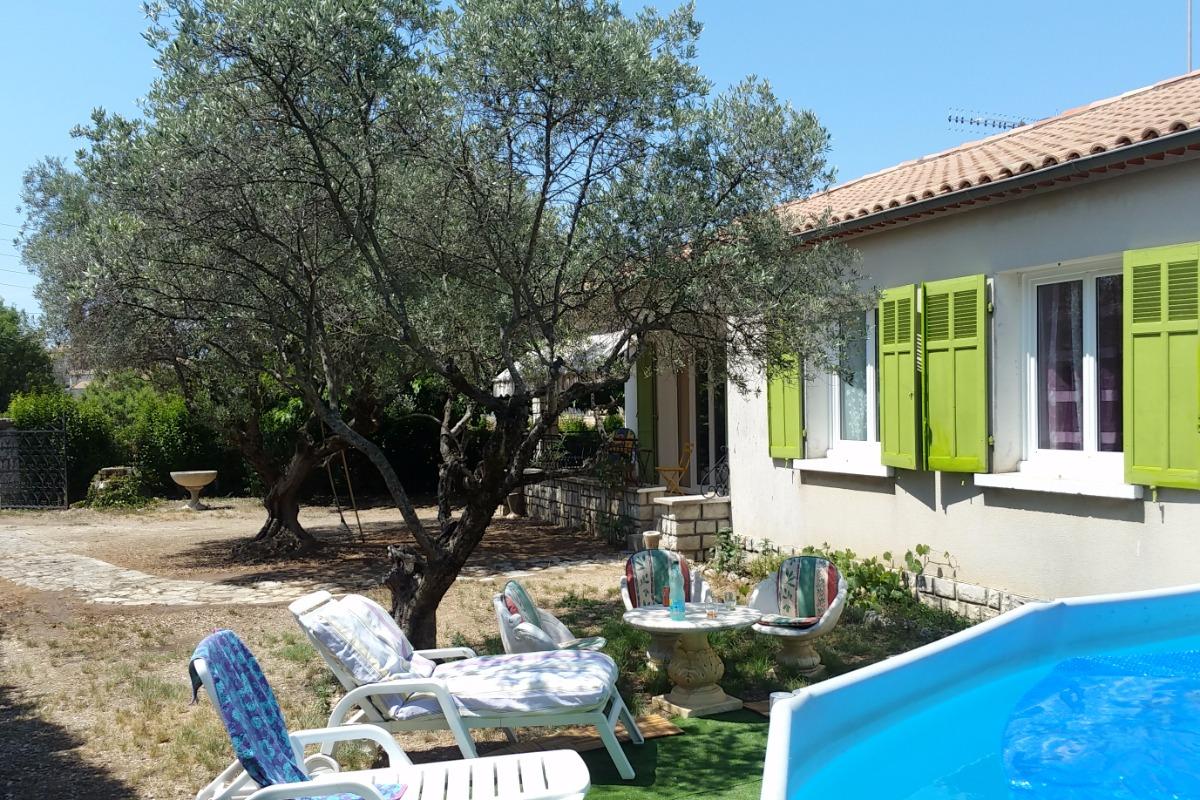 Piscine Hors Sol Avec Toboggan clos saint jean : villa indépendante plain pied, 78 m2, 3