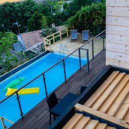 Halte Air et Go/ Cheval blanc/ Vue depuis toit terrasse - Location de vacances - Marcoux
