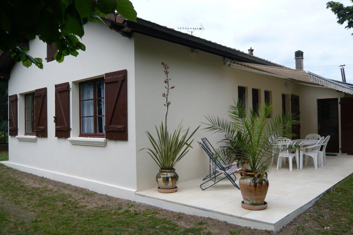 Terrasse  façade EST  - Location de vacances - Saint-Vincent-de-Paul