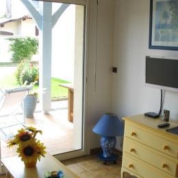 Autre vue depuis salon vers terrasse - Location de vacances - Saubion
