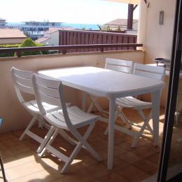 la terrasse avec la mer au loin - Location de vacances - Capbreton