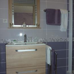 Salle de bain chambre 1 - Chambre d'hôtes - Narrosse