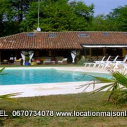 Bergerie de 1840 rénovée piscine chauffée parc face plein sud - Location de vacances - Soustons