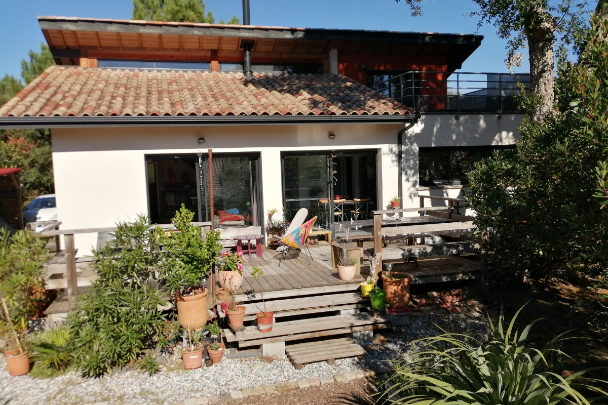 Terrasse vue du solarium - Location de vacances - Messanges