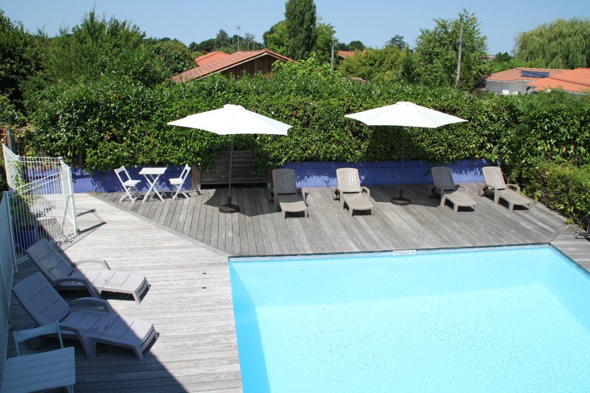 piscine de la résidence   - Location de vacances - Biscarrosse