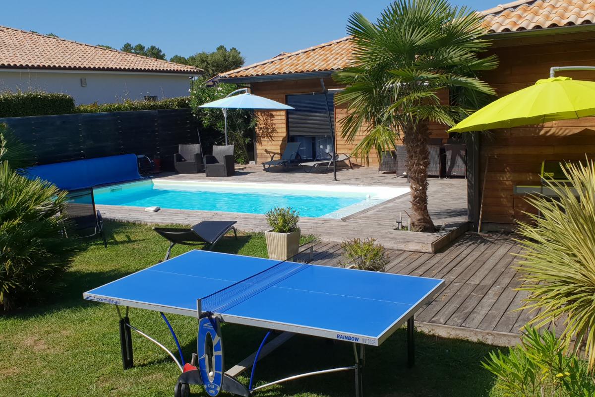 terrasse autour de la piscine - Location de vacances - Moliets-et-Maa