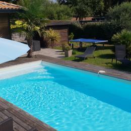 piscine chauffée - Location de vacances - Moliets-et-Maa