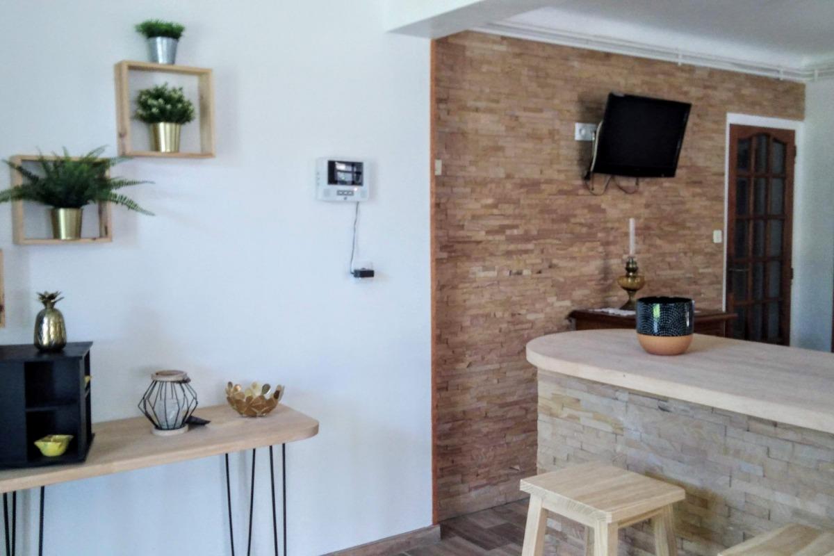 Coin bar de la cuisine - Location de vacances - Tarnos