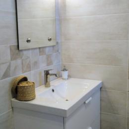 Salle de bain neuve avec grande douche à l'italienne - Location de vacances - Tarnos