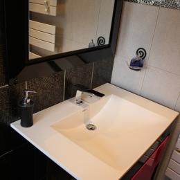 Le Berthoir - Salle d'eau Chambre  Edith Piaf - Chambre d'hôtes - Pélussin
