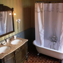 Le Château d'Origny - Salle de bains de La Suite Anglaise - Chambre d'hôtes - Ouches