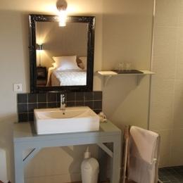 Le Rézinet - Salle d'eau Chambre Galathée - Chambre d'hôtes - Marcilly-le-Châtel