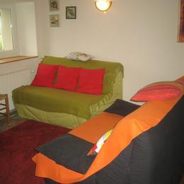 Les Verchères, gîte à la campagne - Salon - Location de vacances - Grammond
