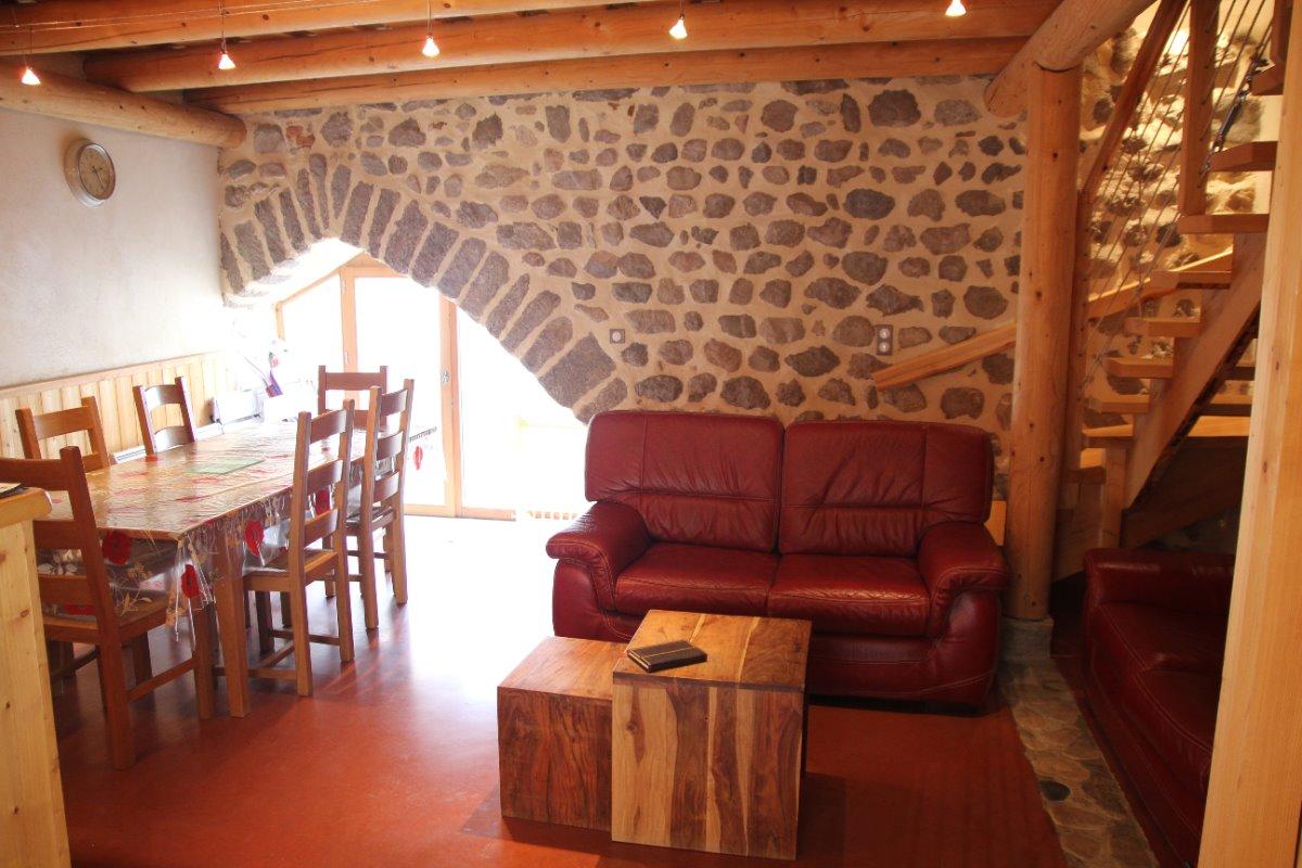 Maison Vigneronne - Pièce de vie - Location de vacances - Champdieu