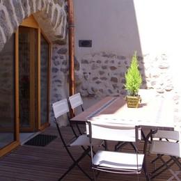 Maison Vigneronne - Terrasse - Location de vacances - Champdieu