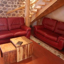 Maison Vigneronne - Salon - Location de vacances - Champdieu
