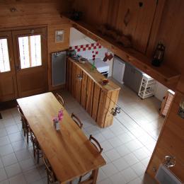 Chalet à Chalmazel - Pièce de vie - Location de vacances - Chalmazel