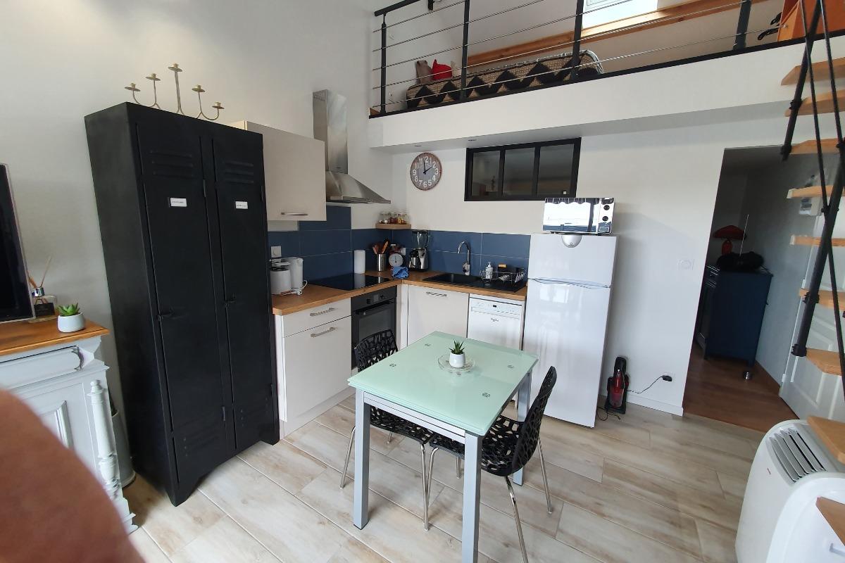 Cuisine-Salon - Location de vacances - Montrond-les-Bains
