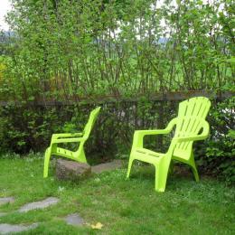 Jardin ombragé et privatif  au chalet le Noisetier - Location de vacances - Yssingeaux