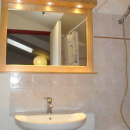Salle de bains (baignoire, lavabo sur meuble et WC) - Location de vacances - Le Puy-en-Velay