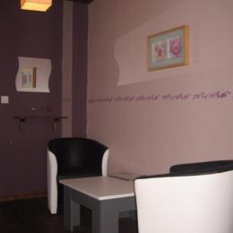 Coin salon chambre double La Romantique - Chambre d'hôtes - Saint-Privat-d'Allier