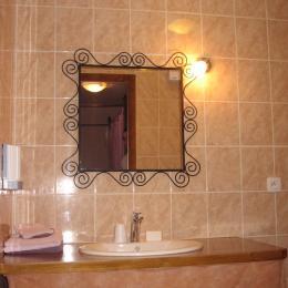 Salle d'eau - chambre La Romantique - Chambre d'hôtes - Saint-Privat-d'Allier