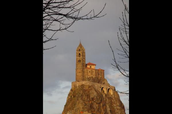 Vue du Rocher Corneille, le soir.