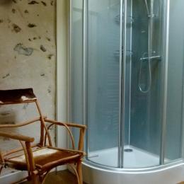 La salle de bain avec une douche - Chambre d'hôtes - Saint-Bérain